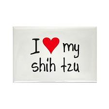 I LOVE MY Shih Tzu Rectangle Magnet
