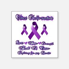 "Fighting chiari for my best Square Sticker 3"" x 3"""