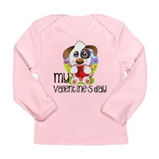 1st Valentine's Day Long Sleeve Infant T-Shirt