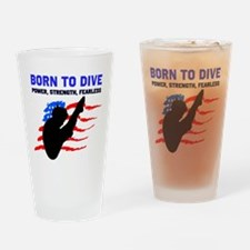 TOP DIVER Drinking Glass