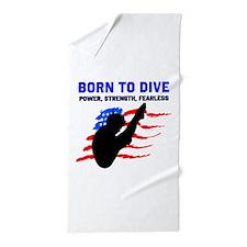 TOP DIVER Beach Towel