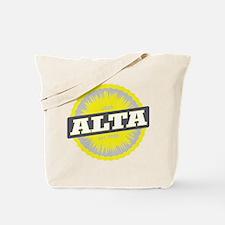 Alta Ski Resort Utah Yellow Tote Bag