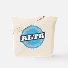 Alta Ski Resort Utah Sky Blue Tote Bag