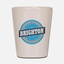 Brighton Ski Resort Utah Sky Blue Shot Glass