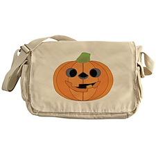 Halloween Carved Pumpkin Messenger Bag