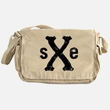 SXE Straight Edge Hardcore Punk Messenger Bag