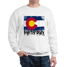 Winter Park Grunge Flag Sweatshirt