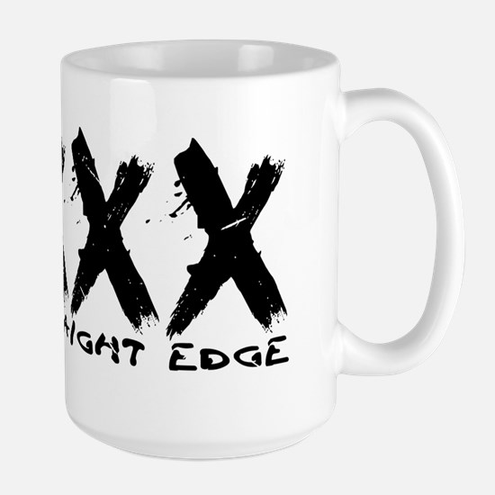 XXX Straight Edge Hardcore Punk Large Mug