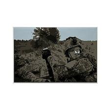 Airborne Ranger Mortar Team Rectangle Magnet