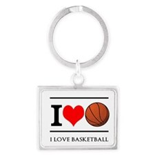 I Heart Basketball Keychains