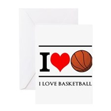 I Heart Basketball Greeting Cards
