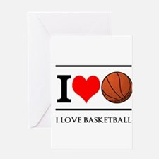 I Heart Basketball Greeting Cards