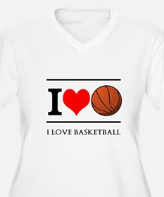 I Heart Basketball Plus Size T-Shirt