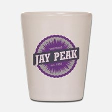 Jay Peak Ski Resort Vermont Purple Shot Glass