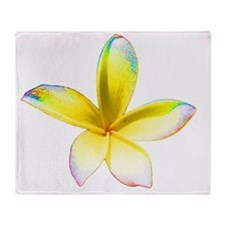 Jasmine flower Throw Blanket