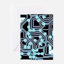 ElecTRON - Blue/Black Greeting Cards