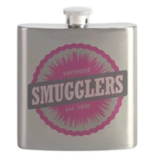 Smugglers Notch Ski Resort Vermont Pink Flask