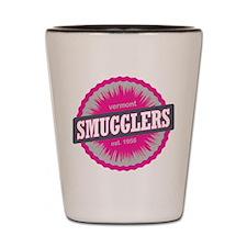 Smugglers Notch Ski Resort Vermont Pink Shot Glass