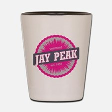 Jay Peak Ski Resort Vermont Pink Shot Glass
