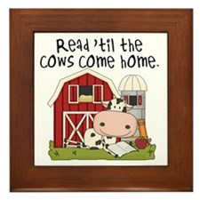 Read Til the Cows Come Home Framed Tile