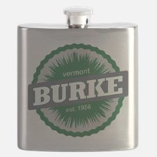 Burke Mountain Ski Resort Vermont Dark Green Flask
