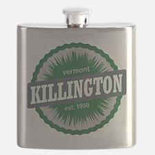 Killington Ski Resort Vermont Dark Green Flask