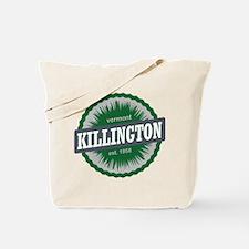 Killington Ski Resort Vermont Dark Green Tote Bag