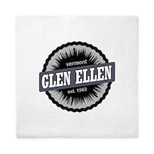 Glen Ellen Ski Resort Vermont Black Queen Duvet