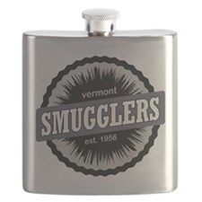 Smugglers Notch Ski Resort Vermont Black Flask