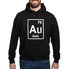 gold periodic element light Hoodie