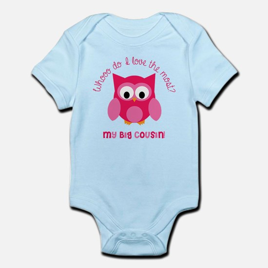 Who? My big cousin! Infant Bodysuit