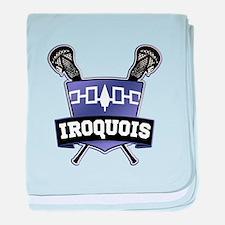 Iroquois Nation Flag Lacrosse Logo baby blanket