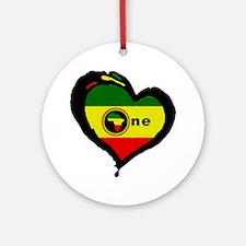Afrika Rasta Heart II Ornament (Round)