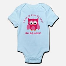 Who? My big sister! Infant Bodysuit