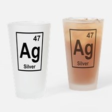 Silver Periodic Element Drinking Glass