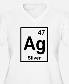 Silver Periodic Element Plus Size T-Shirt
