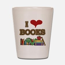 I Love Books Shot Glass