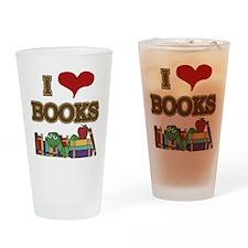 I Love Books Drinking Glass