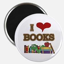 """I Love Books 2.25"""" Magnet (100 pack)"""