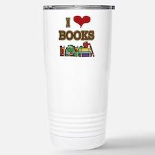 I Love Books Stainless Steel Travel Mug