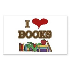 I Love Books Decal