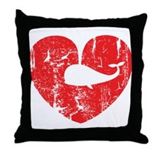 I love whales Throw Pillow