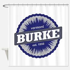 Burke Mountain Ski Resort Vermont Navy Blue Shower