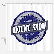 Mount Snow Ski Resort Vermont Navy Blue Shower Cur