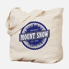 Mount Snow Ski Resort Vermont Navy Blue Tote Bag