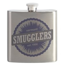 Smugglers Notch Ski Resort Vermont Navy Blue Flask