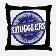 Smugglers Notch Ski Resort Vermont Navy Blue Throw