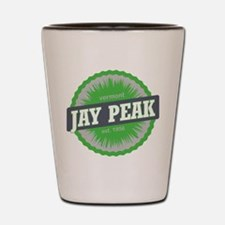 Jay Peak Ski Resort Vermont Lime Green Shot Glass
