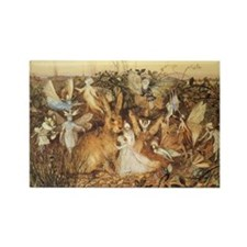 A Rabbit Among the Fairies by Fit Rectangle Magnet