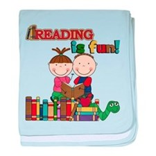 Reading is Fun baby blanket